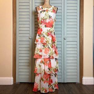 🎉Host Pick🎉 SLNY Tiered Ruffle Halter Maxi Dress